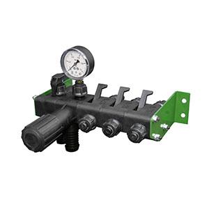 Регулятор давления 3 секционный с манометром 1,0 МПа