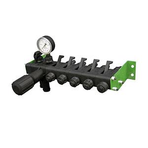 Регулятор давления 5 секционный с манометром 1,0 МПа