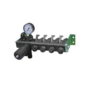 Регулятор давления 4 секционный с манометром 1,0 МПа